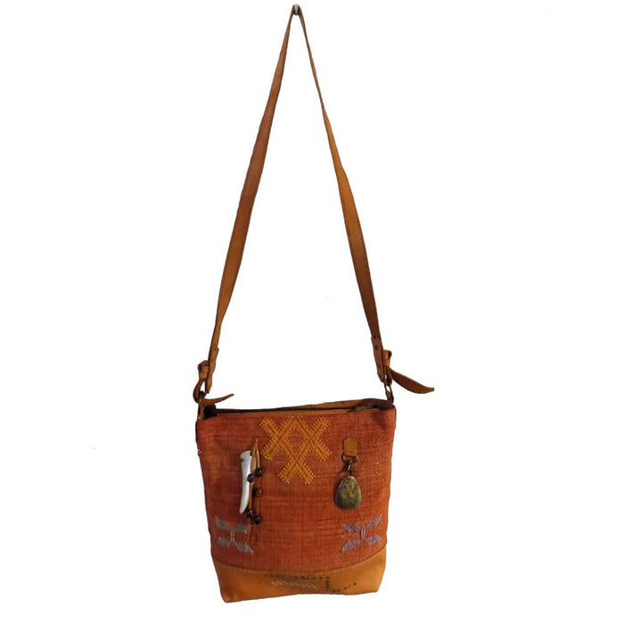 Moroccan Chic Tote Bag Large - Orange Shoulder Bag