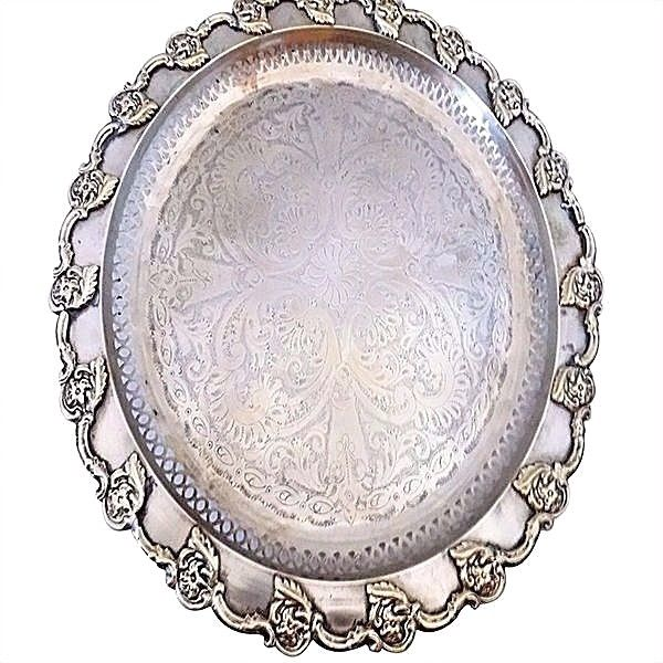 Antique Tray | Traditional Moroccan Serving Tray