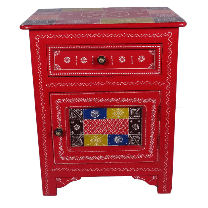 beautiful hand painted solid wood nightstand drawer
