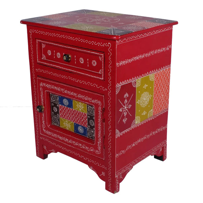 Beautiful Hand painted Solid Wood Nightstands with Drawers
