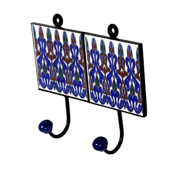 blue ceramic double hangers