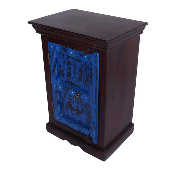 Bombay Solid Mango Wood 1 Drawer Moroccan Nightstand Cabinet