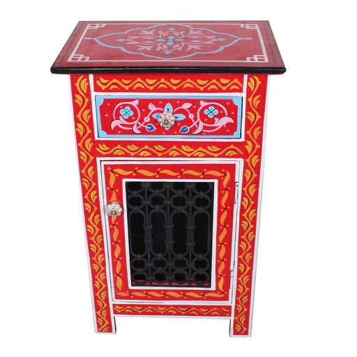 Marrakesh Casablanca Handpainted Mango Wood Nightstand End table