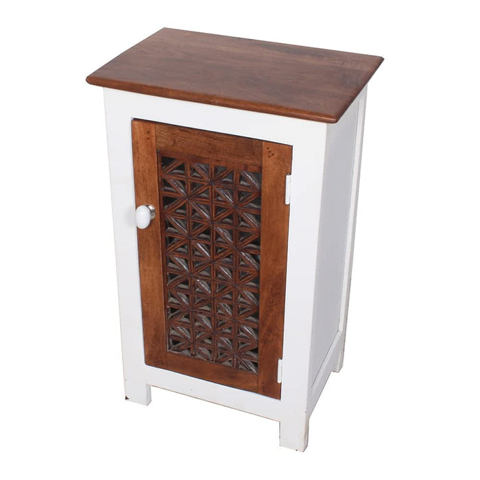 Top Contemporary Solid Wood White Nightstand End Table