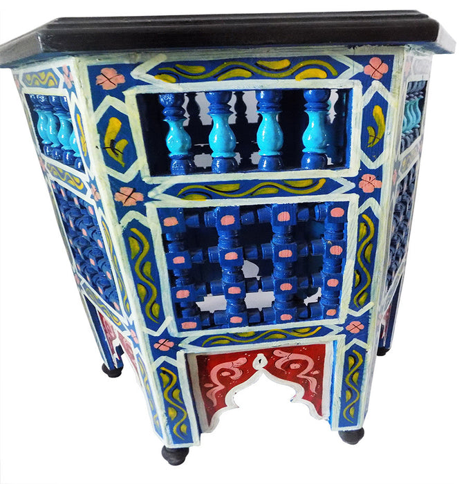Moroccan Octagonal Moucharabieh End Table Side Table