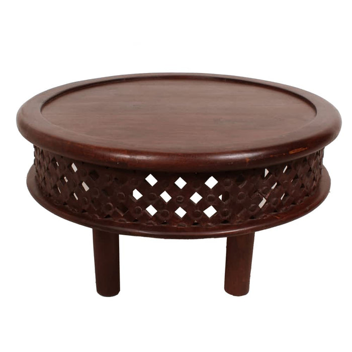 Modern Indian Touch Moroccan Coffee Table with Solid Mango Wood