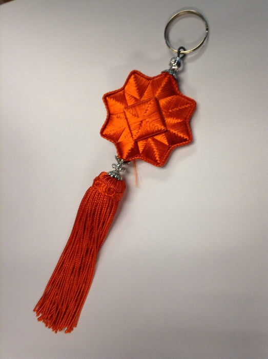 Moroccan Tassel Woven Star Keyring Key holder in assorted Colors