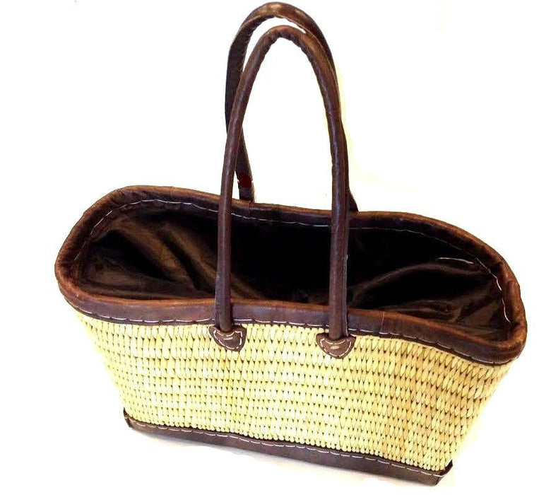 Moroccan Straw Tote Bag