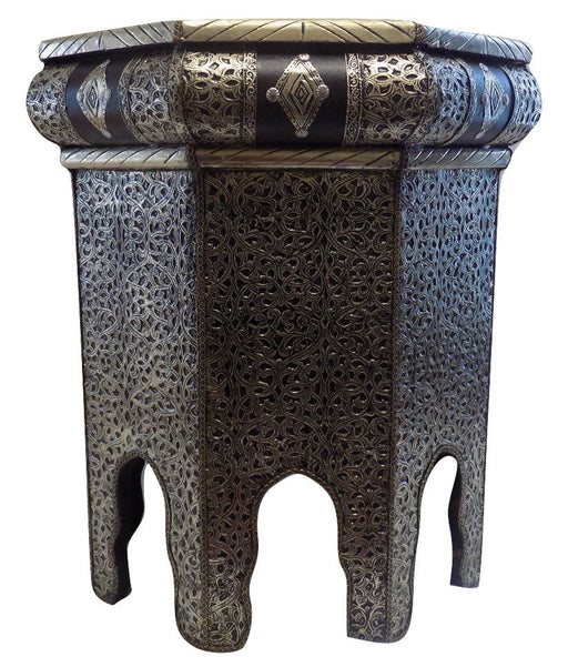 Moroccan Octagonal Metal Accent Table Arabesque Design Furniture End Table