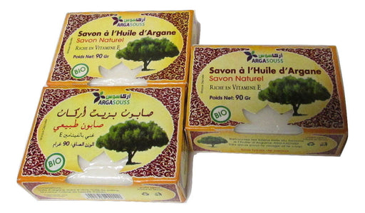 3 Moroccan Natural Argan Oil Organic Artisan Soap Bar