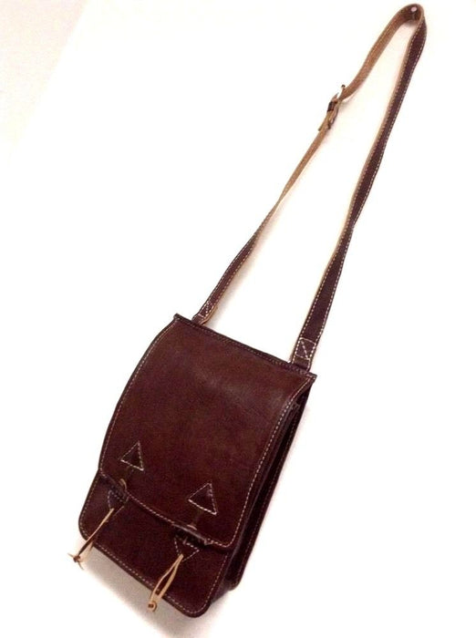 Rugged Design Handmade Raw Brown  Leather Briefcase Messenger Travel Bag Morocco