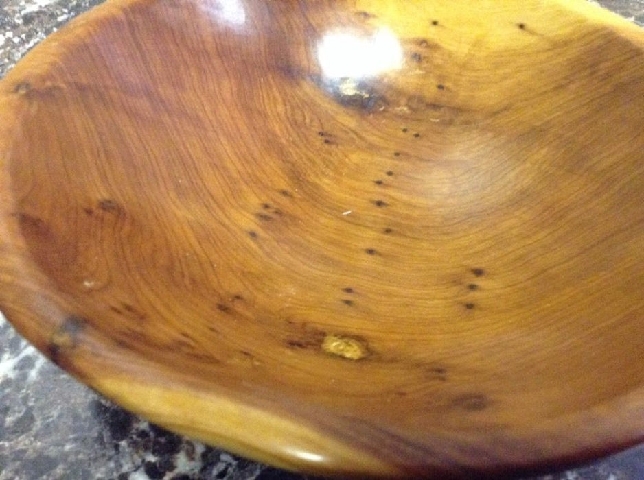 Moroccan Exotic Burlwood Thuya Wood Decor Centerpiece Plate Bowl N