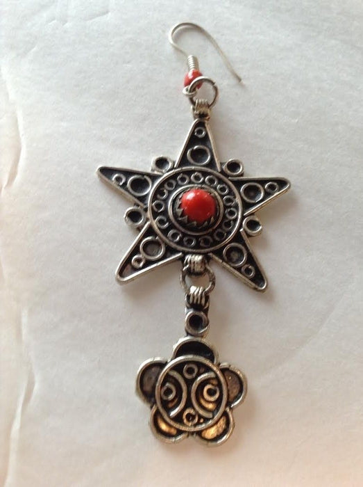 Moroccan Berber Star Tribal Earrings in Assorted Colors