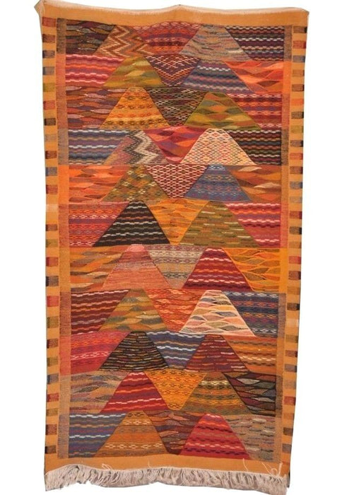 Moroccan Handwoven Berber Tribal  Wool Kilim Kilem Area Rug Carpet