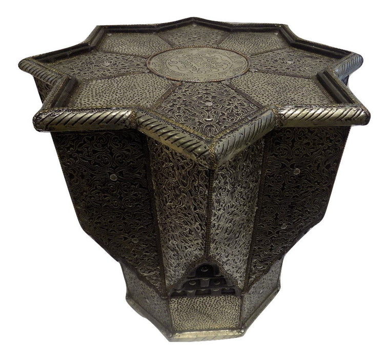 Moroccan Silver Metal End table