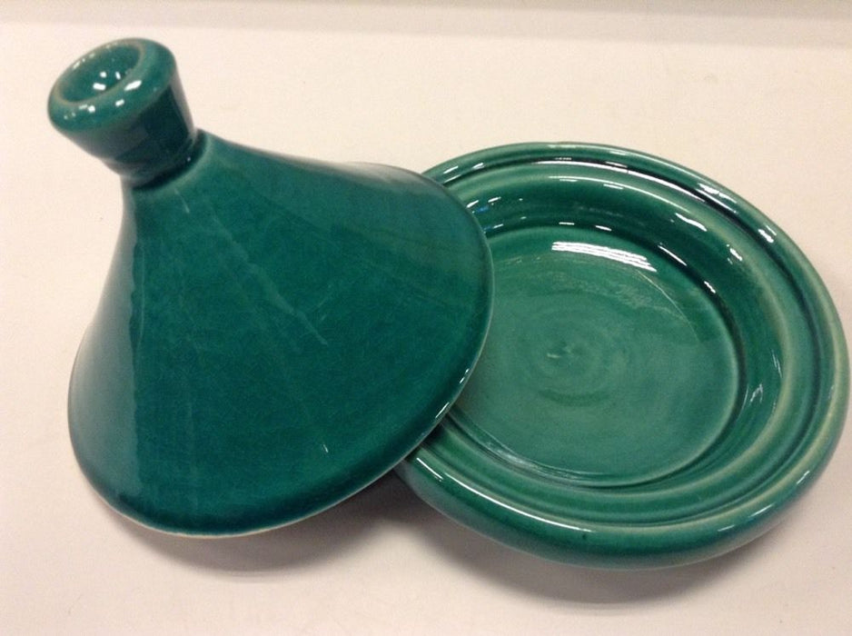 Moroccan Small Serving Tajine in Glazed Terracotta Lidded tagine Emerald Green