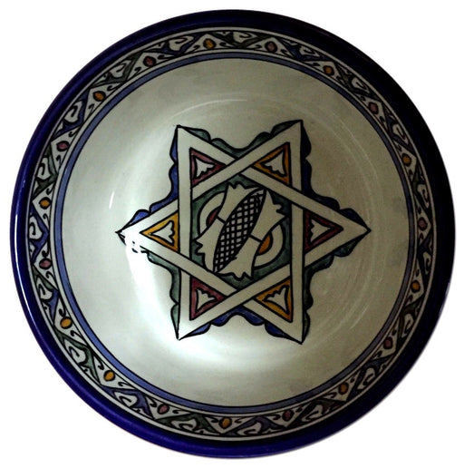 Moroccan Tribal Arabesque Design Mediterranean Serving Pasta Soup Bowl