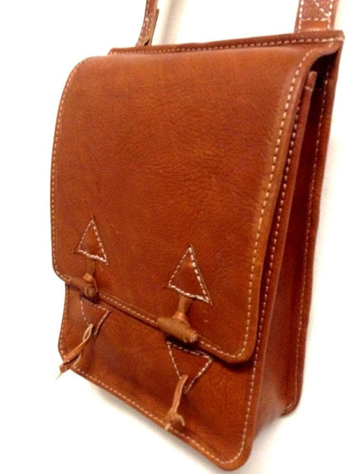 Rugged Design Handmade Raw Tan Leather Briefcase Messenger Travel Bag 3