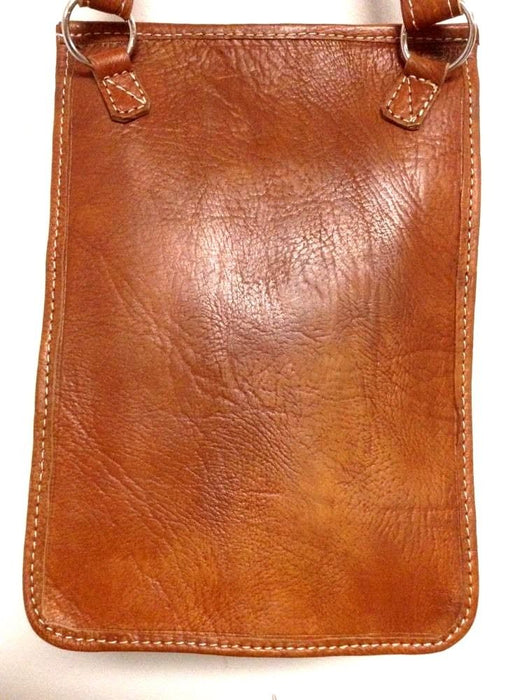 Rugged Design Handmade Raw Tan Leather Briefcase Messenger Travel Bag Morocco