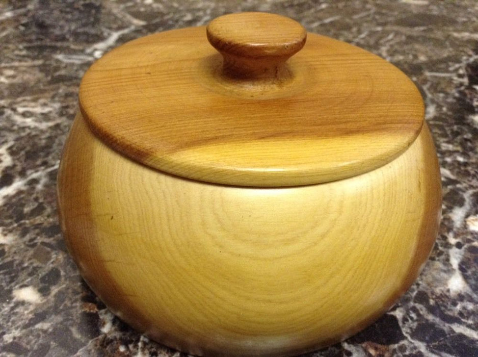 Moroccan Exotic Burlwood Thuya Wood Decor Centerpiece Lidded Canister Trinket 6