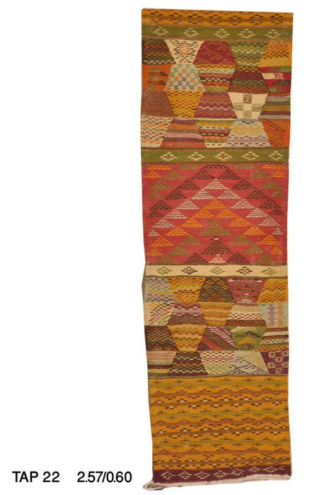 Moroccan Handwoven Berber Tribal Wool Kilim Kilem Runner Rug Carpet