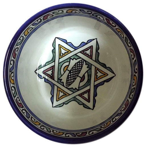 "Moroccan Tribal Arabesque Design Mediterranean Serving Pasta Soup Bowl Plate 7""ø"