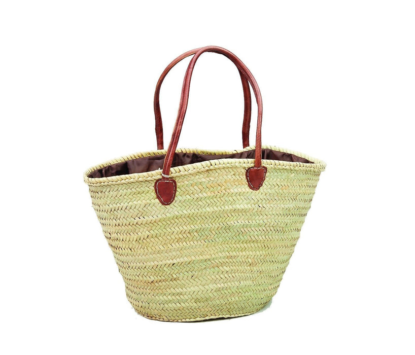 Moroccan Straw & Leather Shopping Bag Large Shoulder Bag XL Tote