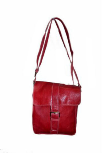 Moroccan Handmade Dark Red Leather Bag Messenger Crossbody Handbag