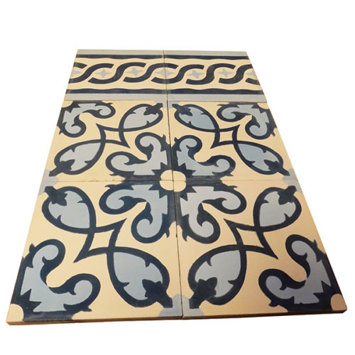 Moroccan Handmade Cement Mosaic Tile Multicolor Geometric design