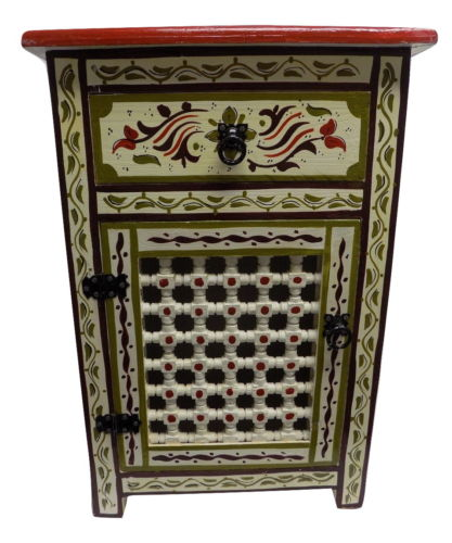 beige moroccan nightstand furniture
