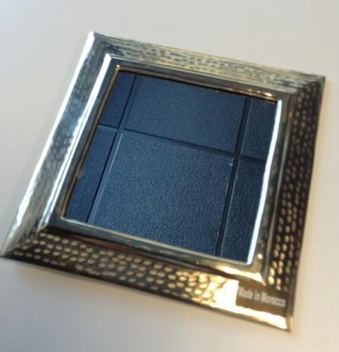 "Moroccan Wall Mirror Hand Hammered Silver Finish Metal 7""x 7"" Square Frame Small"
