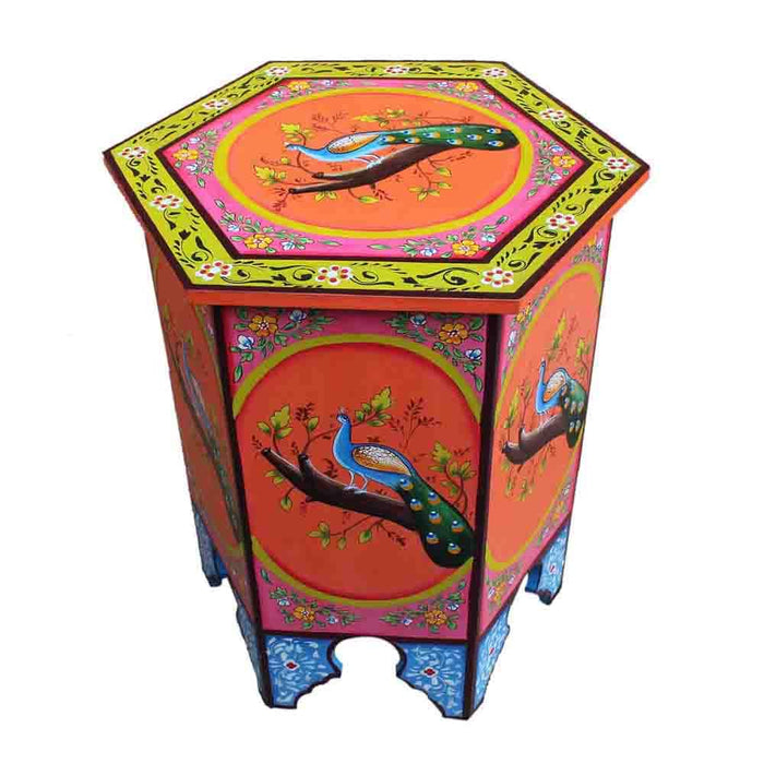 Moroccan colorful Hand Painted End Tables or Corner Lamp Table