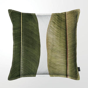 Scatter Cushion (DBL sided print ) - Ficus Foliage 03