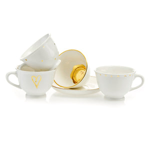 Teacup & Saucer Set of 4