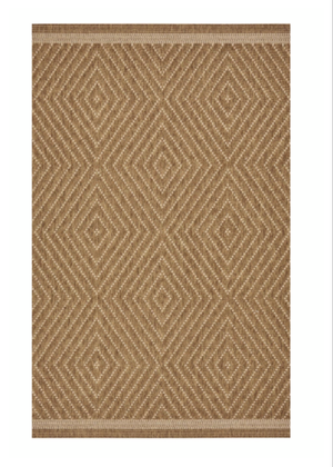 Tan Diamond Patio Rug