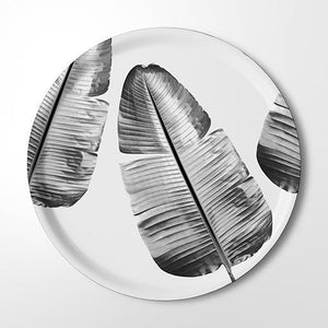 Serving Tray - Wild Strelitzia (black & white)