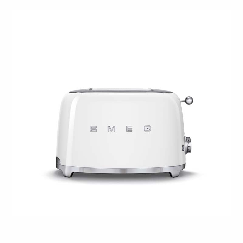 SMEG 50'S RETRO STYLE ICE-WHITE 2-SLICE TOASTER