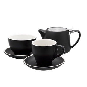 STONEWARE TALL BLACK CUP MATT BLACK 220ML