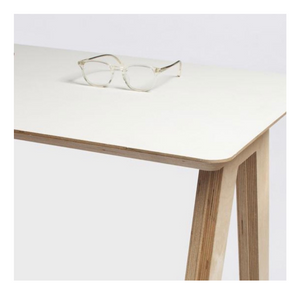 Olivia Desk Birch Ply with White Formica Top
