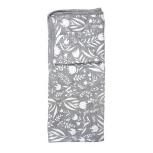 Stretch Cotton Blanket – Grey Wildflower