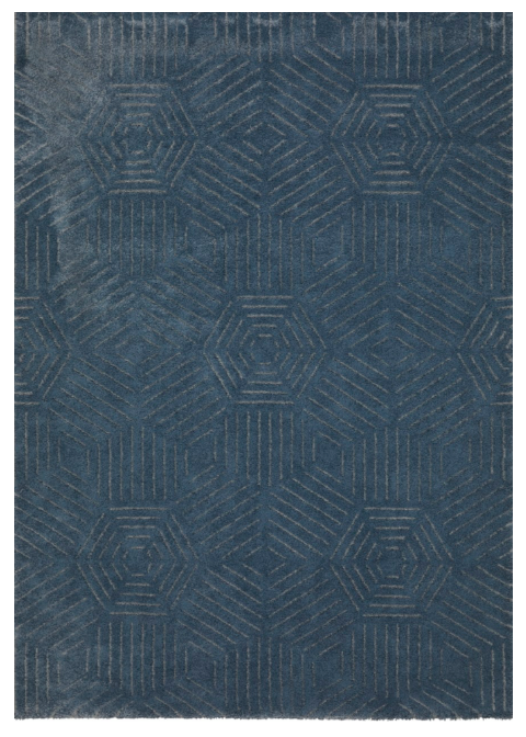 Rug Blue hexagon inspired design