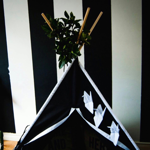Teepee Black with White Accent