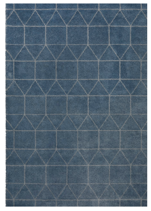 Rug Blue geometric pattern design