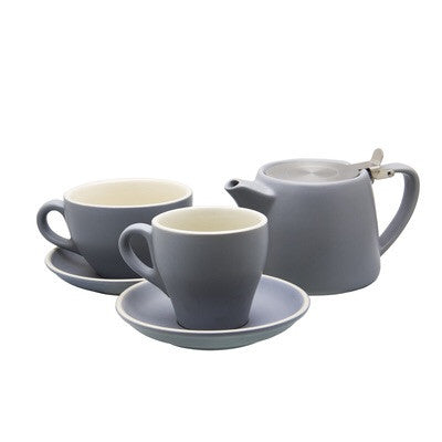 STONEWARE TALL BLACK CUP MATT GREY 220ML