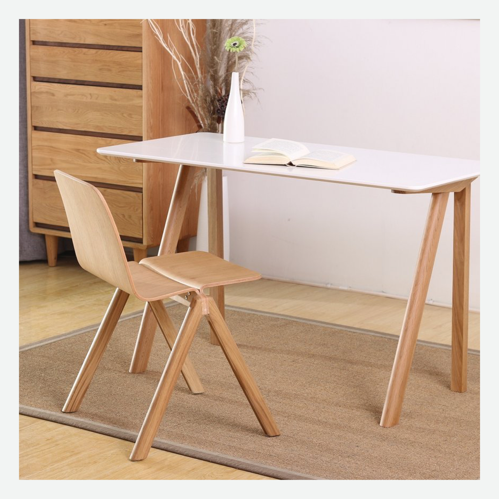 Replica Hay Desk - White Top & Oak Frame
