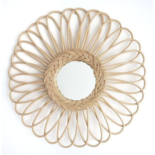 Round oval detail mirror