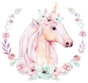Watercolour unicorn vinyl