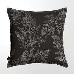 Scatter Cushion (Single sided print ) - Silver Fern Black