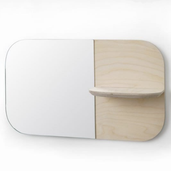 Birch Horizontal Shelfie Mirror