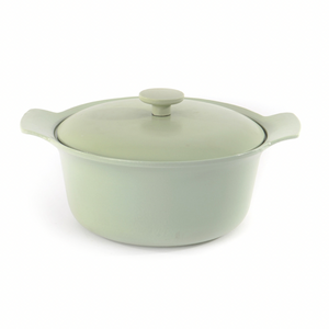 Cast Iron Covered Stock Pot 24cm Green -RON Collection
